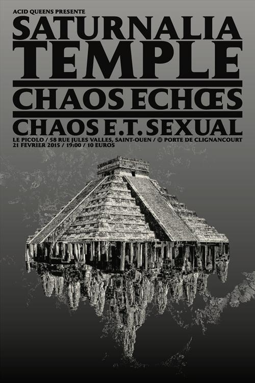 Chaos Echoes gig flyer