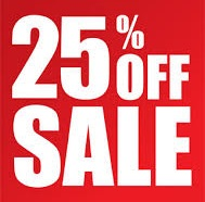 25 percent off sale
