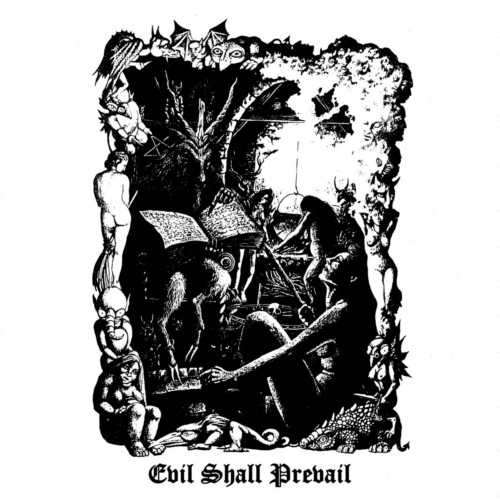 Black Witchery evil shall LP cover