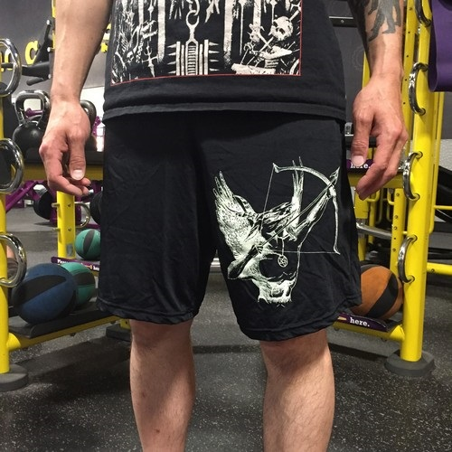 Blasphemy gym shorts