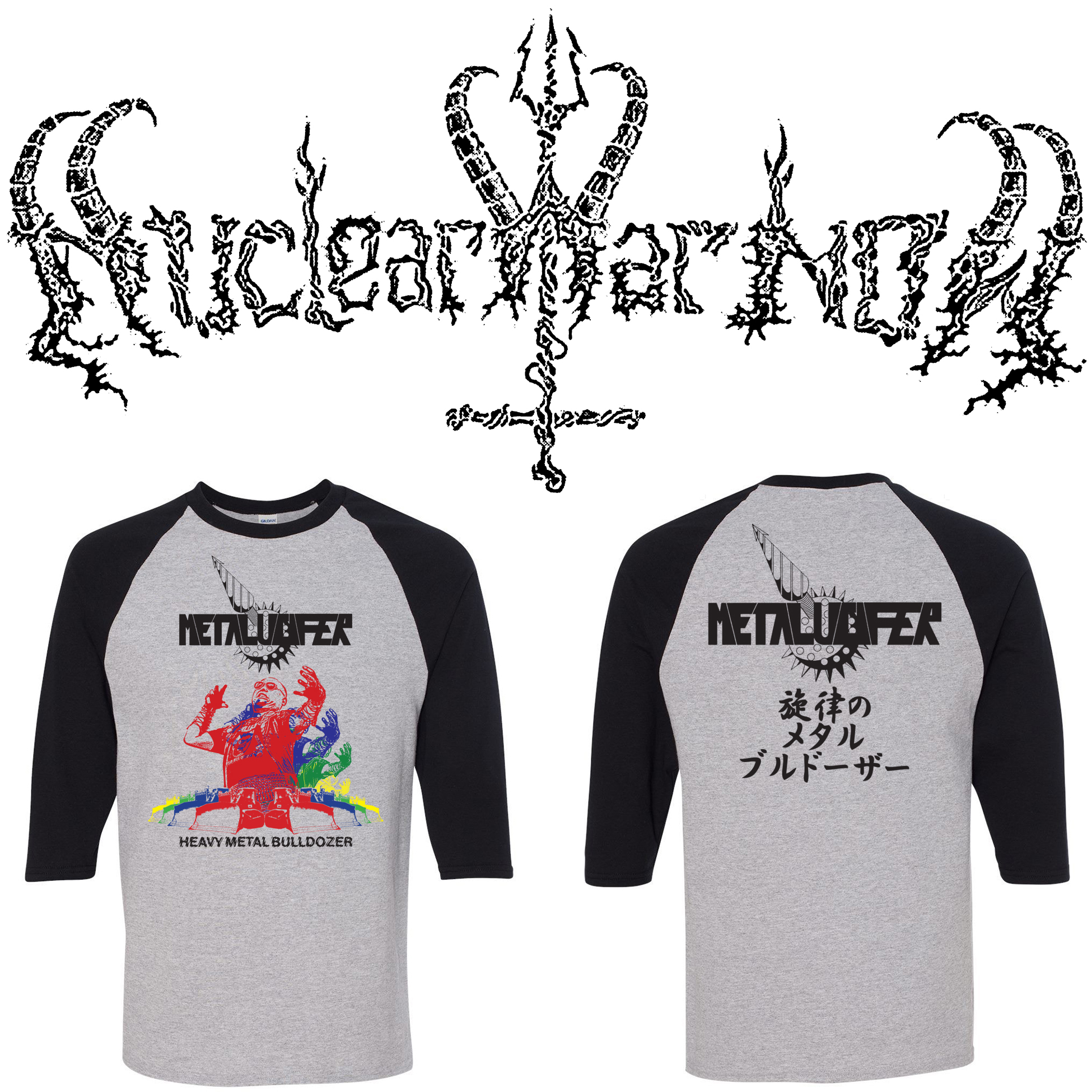 METALUCIFER RAGLAN MOCK UP