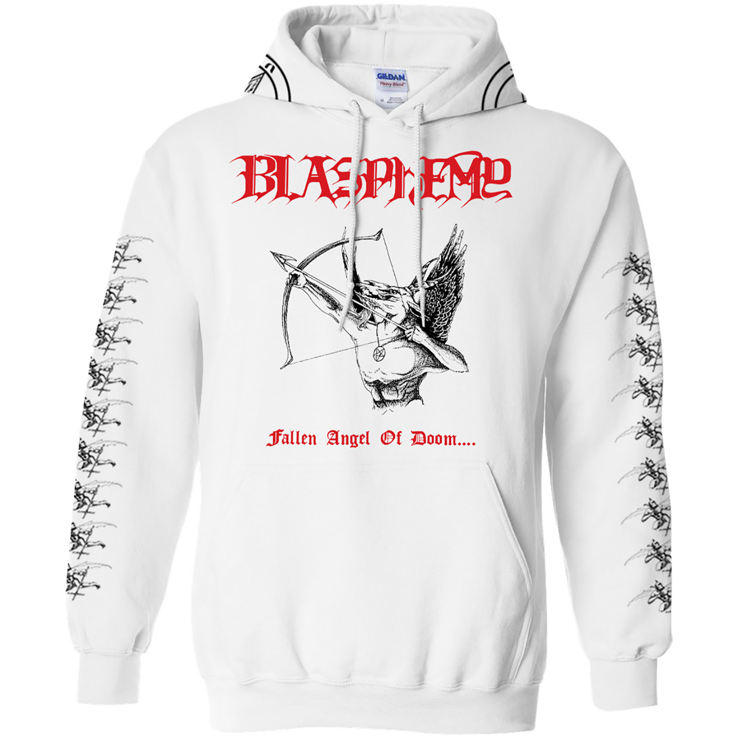BLASPHEMY FAOD BMS WHITE PULLOVER Front