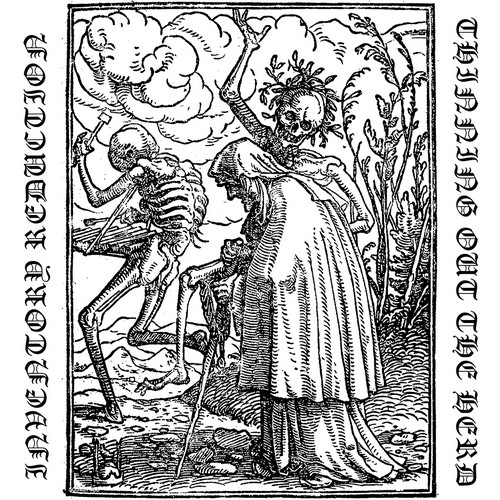 The Dance of Death (Danse Macabre), after Hans Holbein. The Old Woman